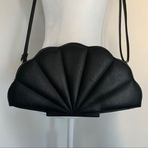 Faux Leather Shell Crossbody